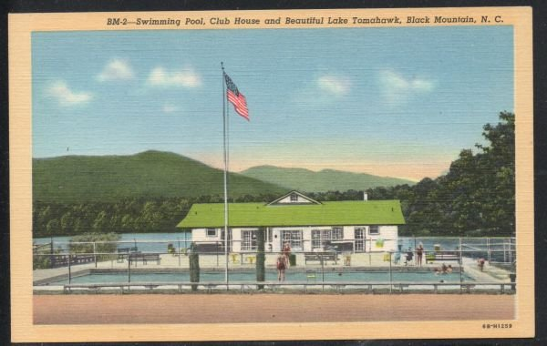 North Carolina colour Swimming Pool Club House, Black Mountain, N.C unused