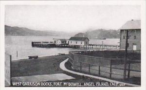 California Angel Island West Garrison Docks Fort Mcdowell Real Photo