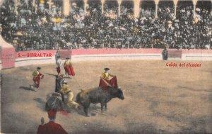 US3090 Spain Gibraltar Bull Fight Arena Postcard corrida