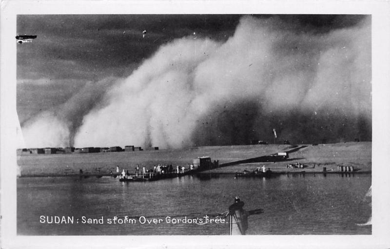 Sudab Africa. Sand Storm (Haboob) Over Gordon's Tree Real Photo Postcard