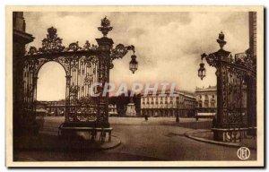 Old Postcard Nancy Place Stanislas Grids Jean Lamour