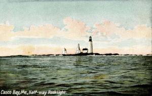ME - Casco Bay. Half-way Rock Light