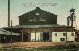 colombia, SINCERIN, Ingenia Central, Front View Sugar Mill, Railway (1910s)