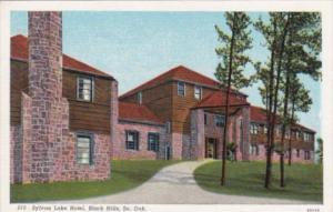 South Dakota Black Hills Sylvan Lake Hotel Curteich 1940