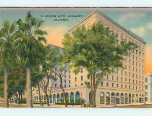 Unused Linen SENATOR HOTEL Sacramento California CA u8362