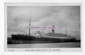 pf6663 - Royal Mail Lines Liner - Arlanza , built 1912 - postcard