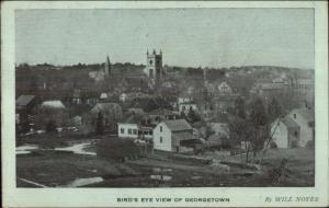 Georgetown Birdseye View - MA? C1910 Postcard