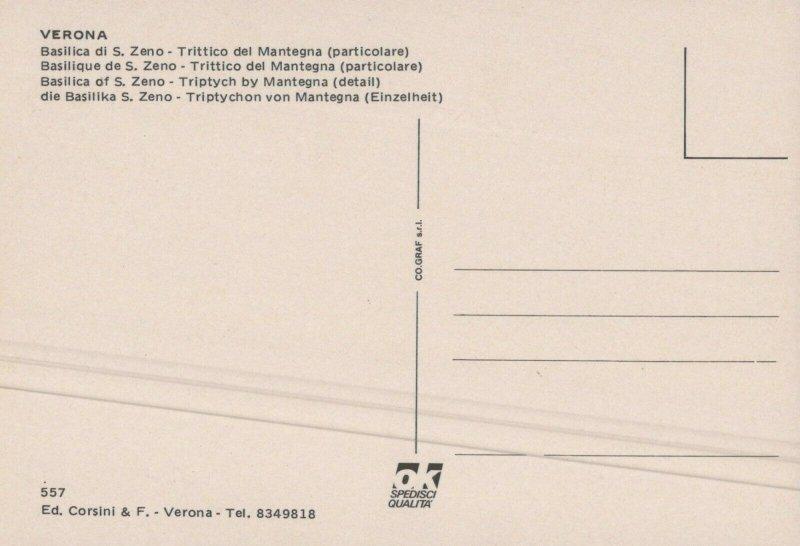 VERONA -S. ZENO BASILICA THE CLASSICAL BEAUTY OF MANTEGNA'S Vintage Postcard