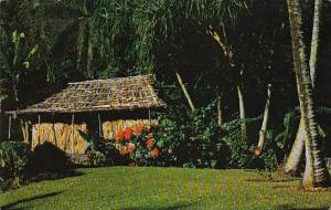 This Grass Shack Is Now Located On The Grounds Of The Waioli Tea Room Honolul...