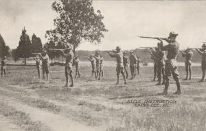 CAMP LEE, Virginia, 1910-20s; Rifle Instruction