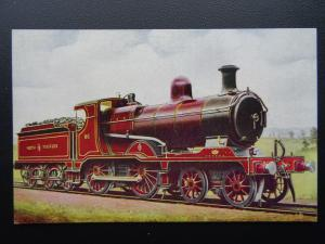 Steam Locomotive NORTH STAFFORD RAILWAY 4-4-0 No.86 at Stoke - Old Postcard
