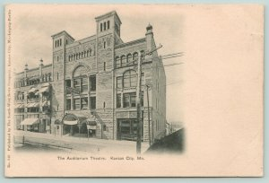 Kansas City MO Managers Office in 5¢ & 10¢ Auditorium Theatre 1906~Razed 1960