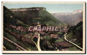 Old Postcard The French Jura Baume Les Messieurs Village Les Vallees