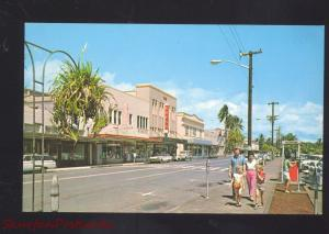 HILO HAWAII DOWNTOWN STREET SCENE SH KRESS STORE 1950's CARS VINTAGE POSTCARD