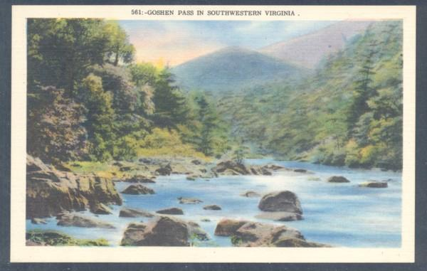 Virginia colour PC Goshen Pass in Southwestern Virginia, unused