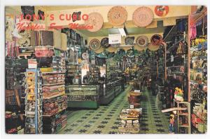 Tony's Curio Nogales Sonora Mexico Gift Shop 60's Vintage Chrome Postcard