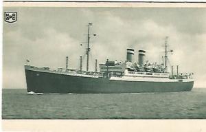 Hamburg American Linie Postkarte Ship Souvenir Ocean Nautical Steam Ship Vintage