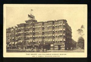 Boston, Massachusetts/Mass/MA Postcard, The Savoy Hotel