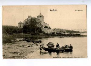 191358 FINLAND Savonlinna NYSLOTT Olofsborg Vintage postcard