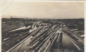 RP, TACOMA , Washington, 1910s ; Boom of Logs