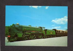 VT British Southern Steam Train Railroad Engine Bellows Falls Vermont Postcard
