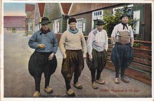 Netherlands Marken Men In Traditional Costume