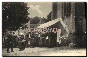 Old Postcard brocantage hair Auvergne Folklore Hairdresser TOP