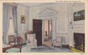 Virginia Mount Vernon West Parlor