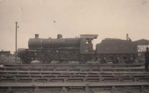 LMS Mogul Class 2-6-0 no 95 in Ireland Antique Train RPC Postcard