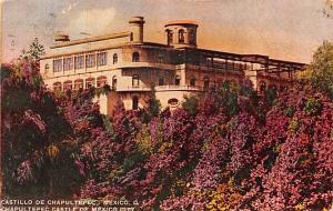 Mexico Old Vintage Antique Post Card Castillo de Chapultepec Mexico City 1947