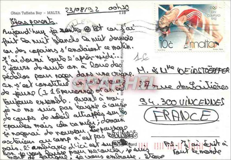 Postcard Modern Ghajn Tuffieha Malta
