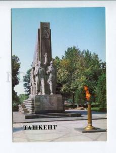 271935 Uzbekistan TASHKENT monument 14 Turkestan commissars 1986 year postcard