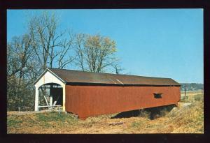 Jessup, Indiana/IN Postcard, Jessup Bridge, Parke County