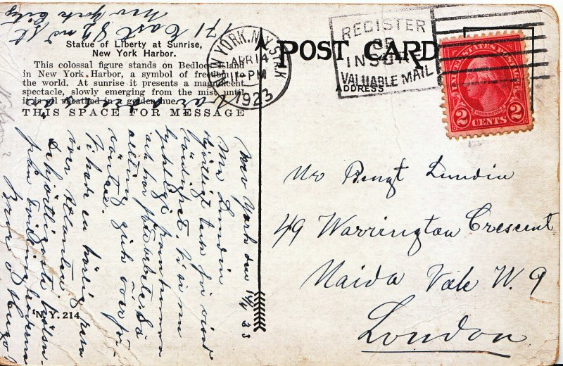 Genealogy Postcard - Family History - Dundin - Maida Vale  - London  988A