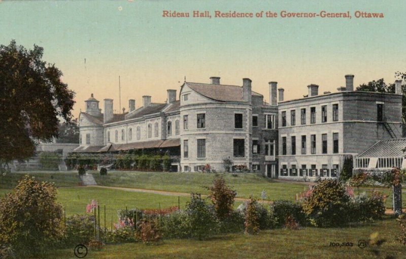 OTTAWA, Ontario, 1900-10s; Rideau Hall, Residence of the Governor-General