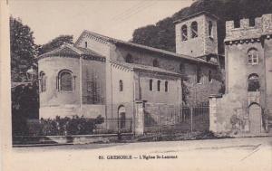 GRENOBLE, Rhone-Alpes, France; L' Eglise St. Laurent, 00-10s