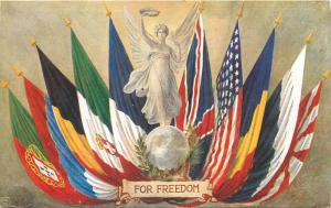 For Freedom Flags Allegory Prime Minister American Ambassador Quotes Oilette PC