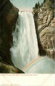 WY - Yellowstone National Park. Great Falls     (Haynes)