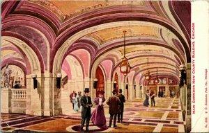 Vtg Postkarte 1910 - Innenraum - Haupt Courridor Neu Grafschaft Gebäude Chicago