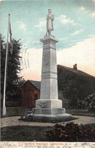 C14/ Lambertville New Jersey NJ Postcard 1907 Soldiers Monument