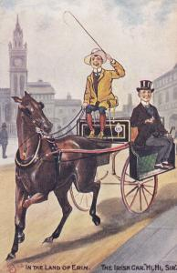 Irish Jaunting Car Antique Ireland Transportation Comic Postcard