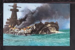 Graf Spee Scuttled,WWII Postcard
