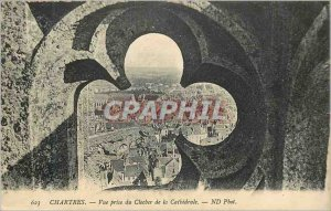 Postcard Old Chartres Vue Prize of the Bell tower of the Cathedral