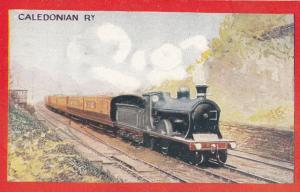 Caledonian Railway 4-4-0 Drummond Express Train Postcard