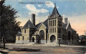 Beatrice Nebraska~Presbyterian Church Showing Unpaved Street Corner~1916 Pc