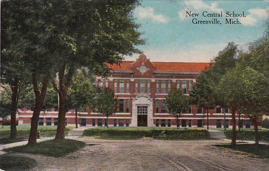 Michigan Greenville New Central School 1914