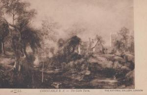 Constable The Glebe Farm National Gallery London Antique Painting Postcard