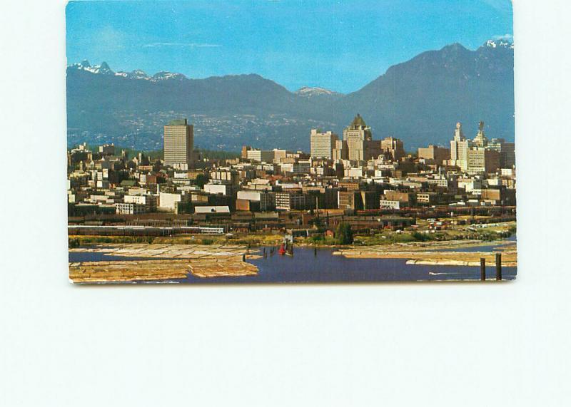 Postcard Vancouver B C Canada False Creek Skyline Aerial View Canada Ga # 4315A