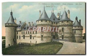 Old Postcard Chateau de Chaumont Gate Entrance