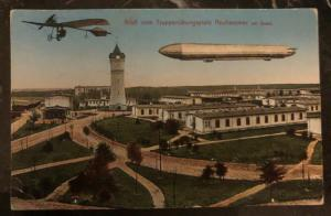 Original Zeppelin In Flight Picture Postcard Mint At Neuhammer